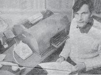 Photograph of Ken Carter in 1973