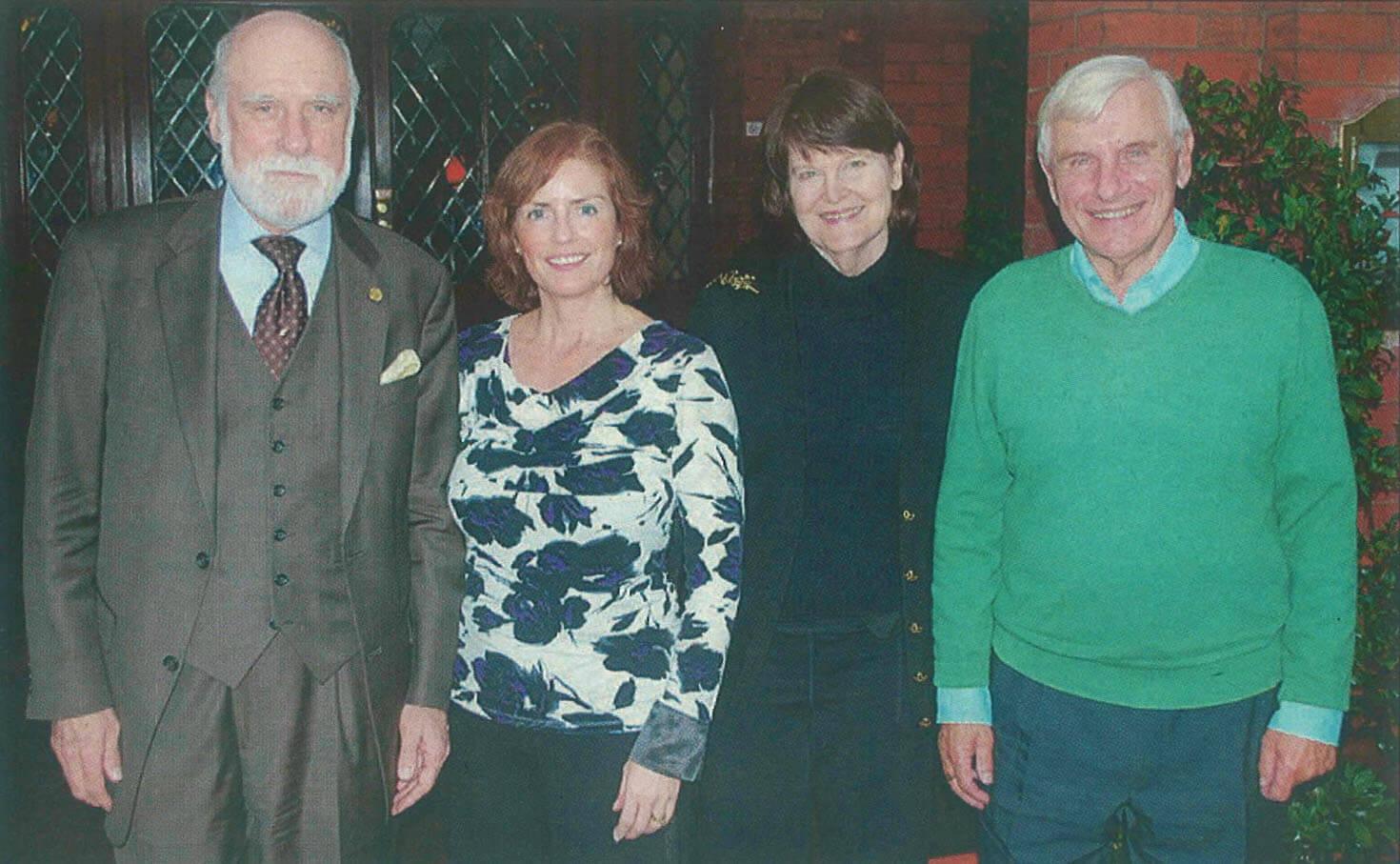Vint Cerf, Helen Lansdown, Sigrid Cerf and Ken Carter